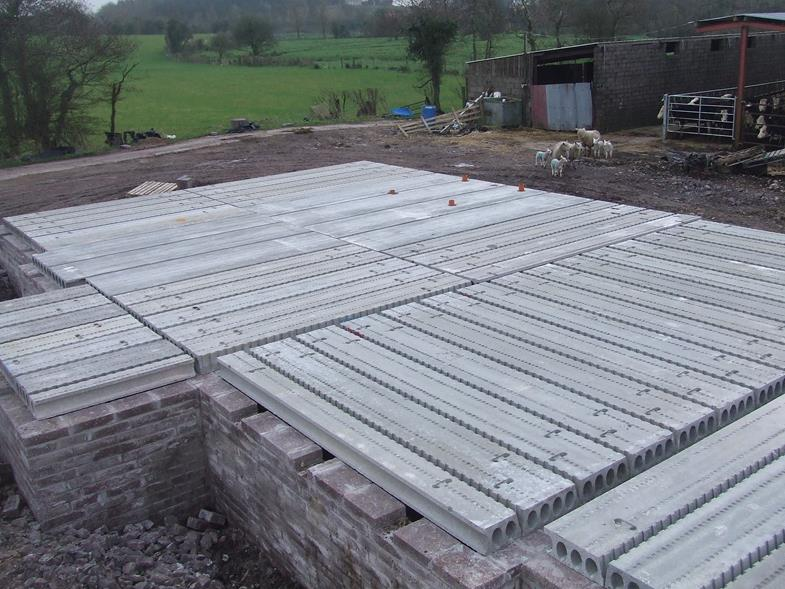 Residential Precast Concrete Slabs : Reinforced hollowcore flooring concrete floors