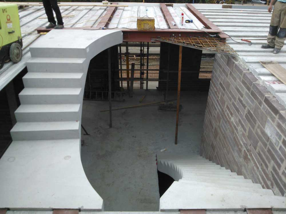Residential Precast Concrete Slabs : Concrete stairs ¦ precast stair units landing slab