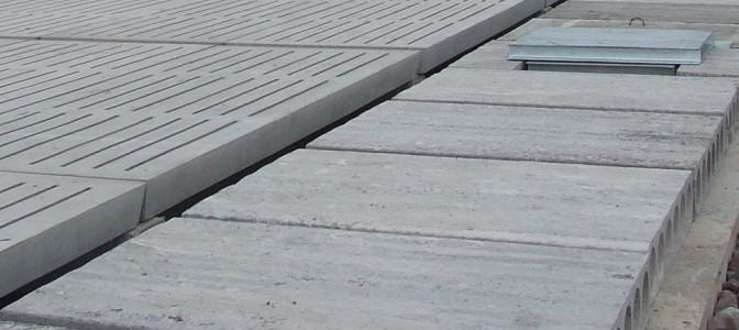 Concrete passage slabs