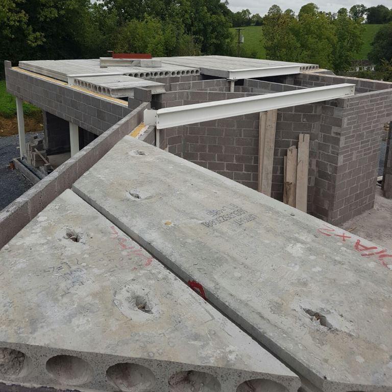 Precast Concrete Floors For New Private 2 Story Home